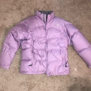 North Face lilac 600 puffer jacket